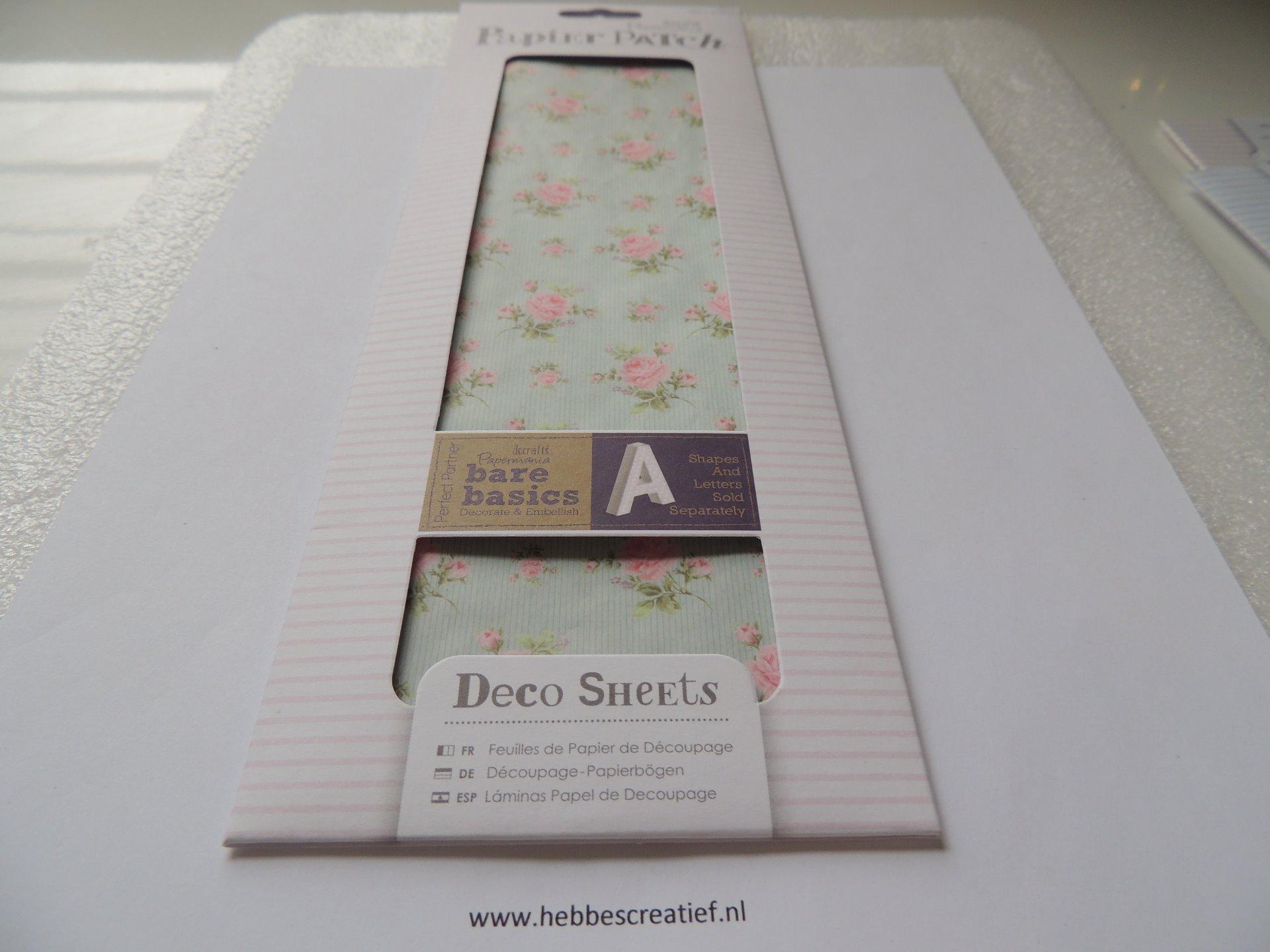 Deco Sheetspapier Patch Pink Rose Hebbes Creatieve Materialen